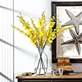 Conjugal Bliss 1PCS Single 100cm Dancing Butterfly Orchid Phalaenopsis 4 Colors Emulation Plant Artificial Flower For Living Living Party Decoration Bridal Wedding Shop Store Hotel Fake Flower(yellow)