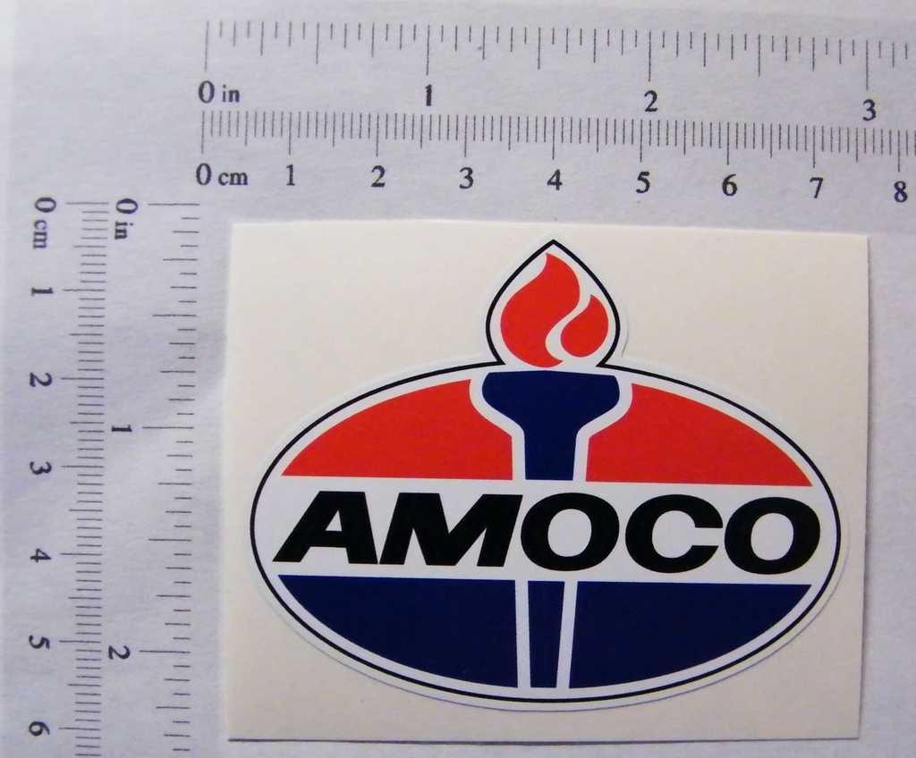 "Amoco vinyl cut sticker decal 14/"" full color"