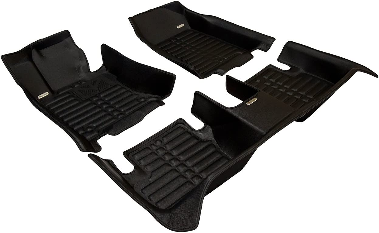 Largest Coverage Waterproof TuxMat Custom Car Floor Mats for Acura TL AWD 2009-2014 Models/ - Laser Measured Also Look Great in the Summer./ The Best/ Acura TL Accessory. All Weather The Ultimate Winter Mats Full Set - Black