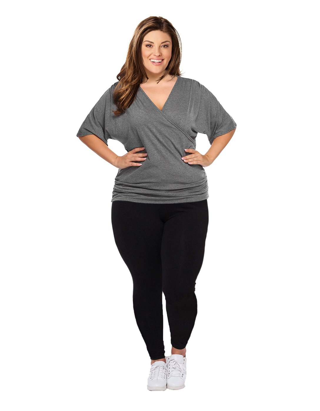 Opaque Graduated Compression Extra Firm Support (20-30mmHg) Plus Size Footless Microfiber Leggings Tights with Control Top. (XXXL(18W-20W))