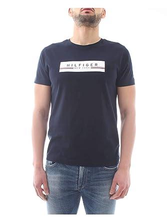 78764b46 Tommy Hilfiger Men's Corp Box Print Tee T-Shirt: Amazon.co.uk: Clothing