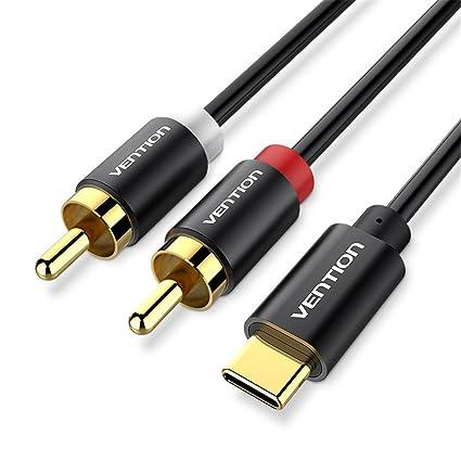 amazon com vention usb type c to 2 rca audio cable type c rca cable rh amazon com