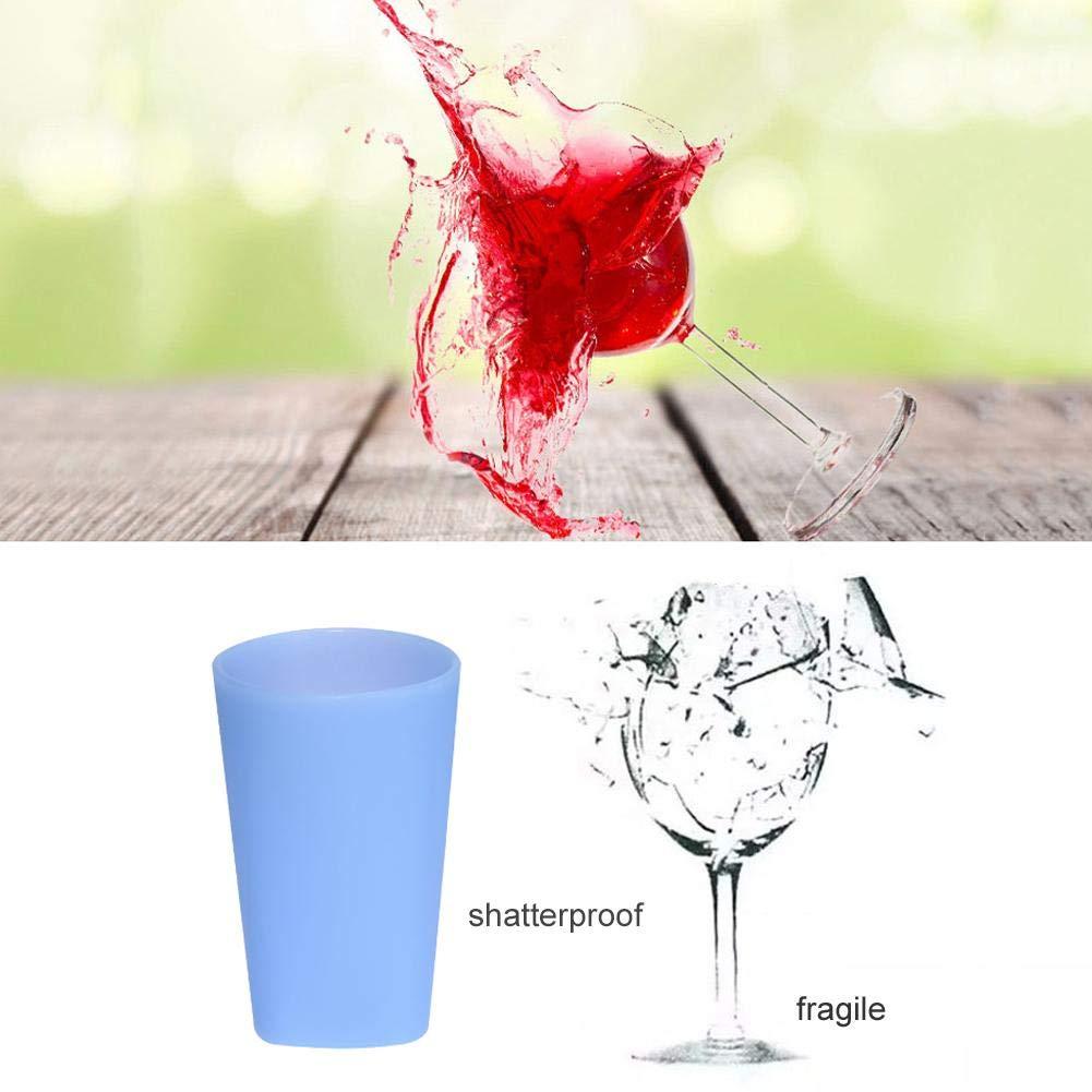 lā Vestmon Bicchieri da Vino in Silicone da Campeggio Outdoor Occhiali da Birra Originali infrang