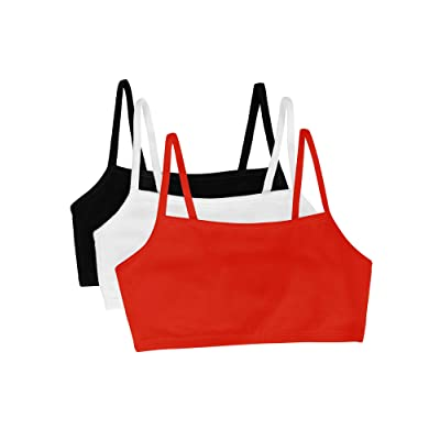Fruit of the Loom Women's Cotton Pullover Sport Bra(Pack of 3) at Women's Clothing store: Sports Bras