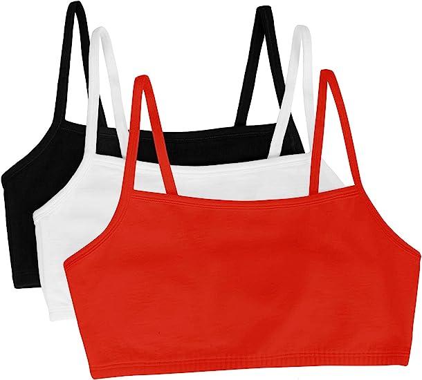 Fruit of The Loom Womens Built-Up Sports Bra 3 Pack Bra