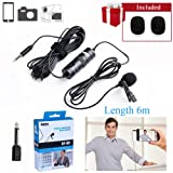 6m/236'' Lavalier Microphone DSLR, BOYA Omnidirectional Camera Condenser Mic for Canon Nikon Sony iPhone X 8 8 plus 7 7 plus Camcorder Audio Recorder Vlog Facebook Live Youtube
