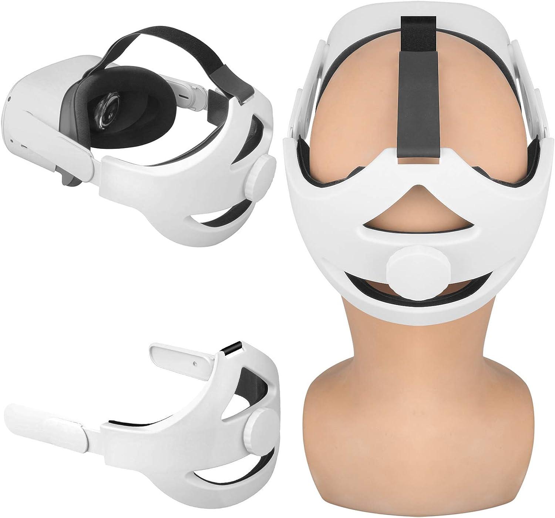 Esimen Adjustable Head Strap for Oculus Quest 2 Elite Strap with Cushion, Comfort Foam Pad Strap, Design Balance Weight, Reduce Pressure (White)