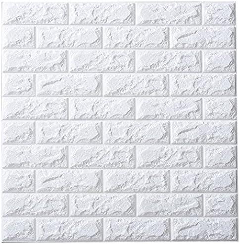 武田コーポレーション/壁紙、壁紙シール、3D立体シート/【ウォール クッションシート レンガ柄 3枚組】ホワイト(K7-UKR3WH)