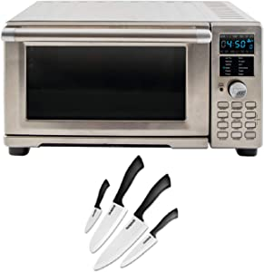 NuWave Bravo XL Air Fryer/Toaster Oven Bundle With Nuwave 4-Piece Ceramic Nonstick Knife Set (2 Items)