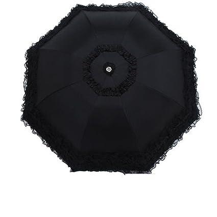 e0d29ab39624 Amazon.com : Reinhar Black Folding Women Umbrella Automatic Rain ...