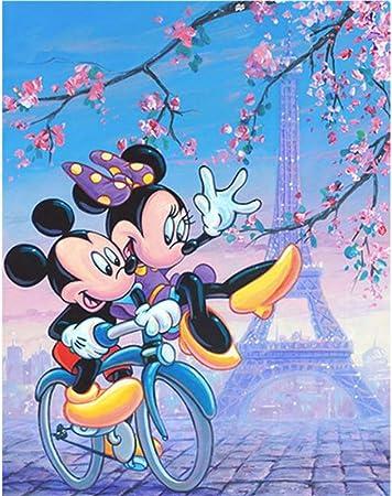 Cartoon Mickey Mouse 5D Diamond Painting Kit Cross Stitch Kit\u00a0Full RoundSquare Drill Diamond Embroidery Bedroom Home Decoration Wall Decor