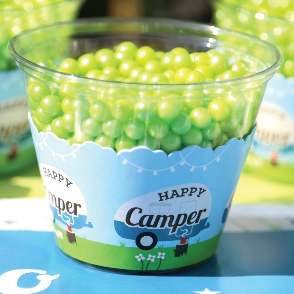 Amazon.com: Big Dot of Happiness Happy Camper – Camping ...