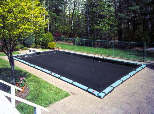 Economy In-Ground Winter Swimming Pool Cover with Water Tube Kit Fits Pool Size: 18' x 36' -