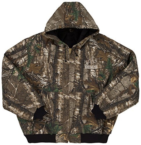 NFL Buffalo Bills The Camo Canvas Quilt Lined Hooded Jacket, Real Tree Camouflage, Large