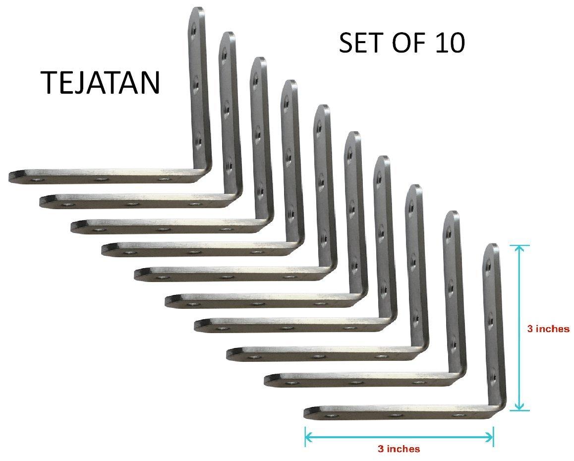 Corner Brace Set (Also know as - Corner Braces, L Bracket, angle Brackets, Right angle bracket, L shaped bracket, angle brace, metal angle brackets, angle brackets, angle support brackets)