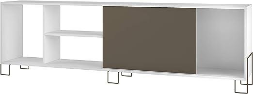 WHYNOTHOME Mesa TV con Patas metálicas acabada en Color ...