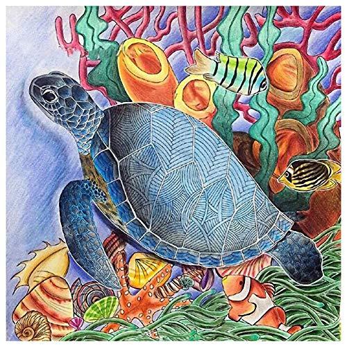 - 5D DIY Full Drill Diamond Painting Sea Turtle Cross Stitch Embroidery Kits Home Decor