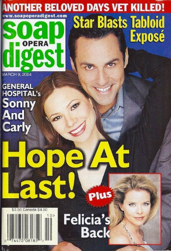 Maurice Benard, Tamara Braun, Kristina Wagner, Mixed Hospital, Singers Appearing On Daytime Soaps - March 9, 2004 Soap Opera Digest Magazine