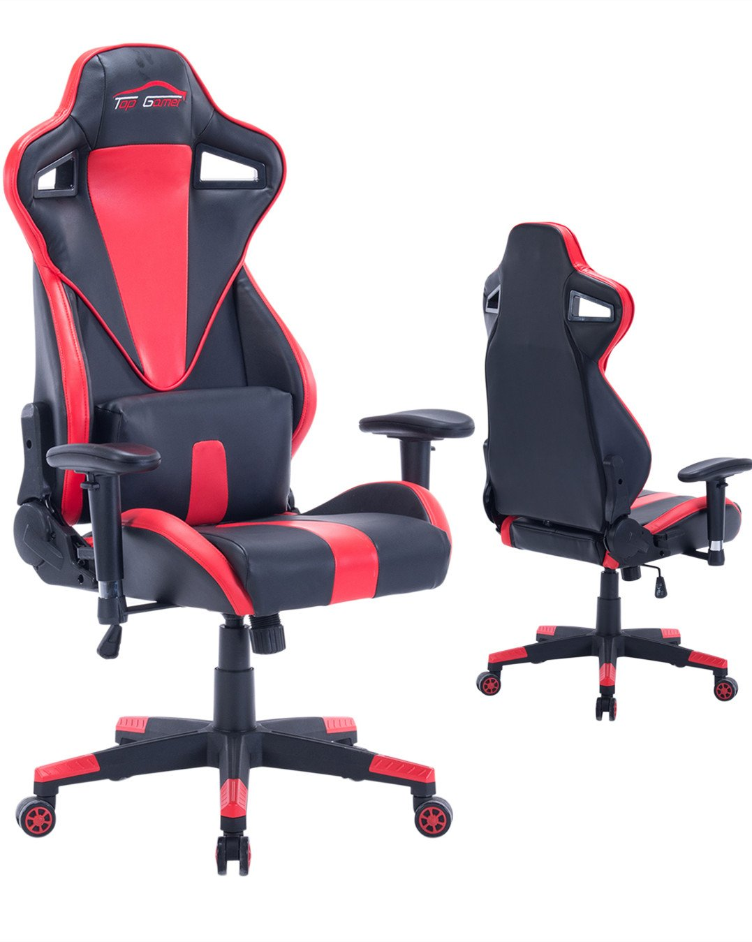 Ergonomic Gaming Chair High Back Computer Chair (Red/Black,6)