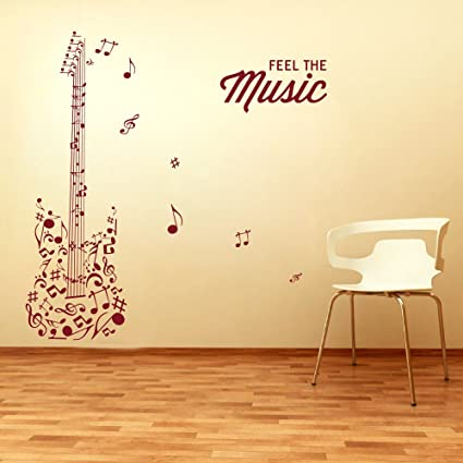 Decor Kafe Home Decor Music Wall Sticker, Wall Sticker For Bedroom, Wall Art ,