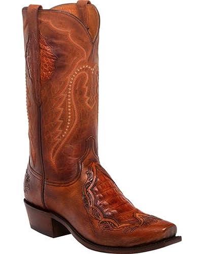 5fac0e72ea5 Amazon.com   Lucchese Men's Bryson Peanut Caiman Inlay Western Boots ...