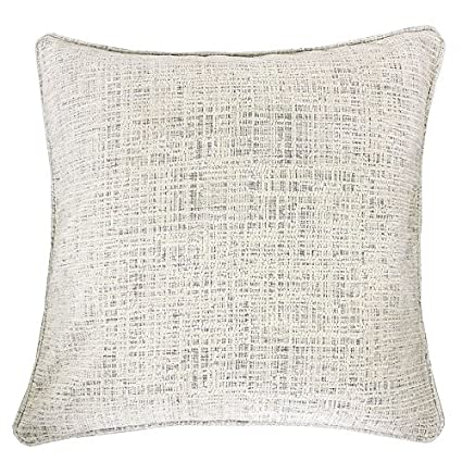 Homey Cozy Chenille Textured Throw Pillow Cover,Heavy Chenille Series Ivory  Large Sofa Couch Decorative Pillow Case Modern Western Home Decor 20x20, ...