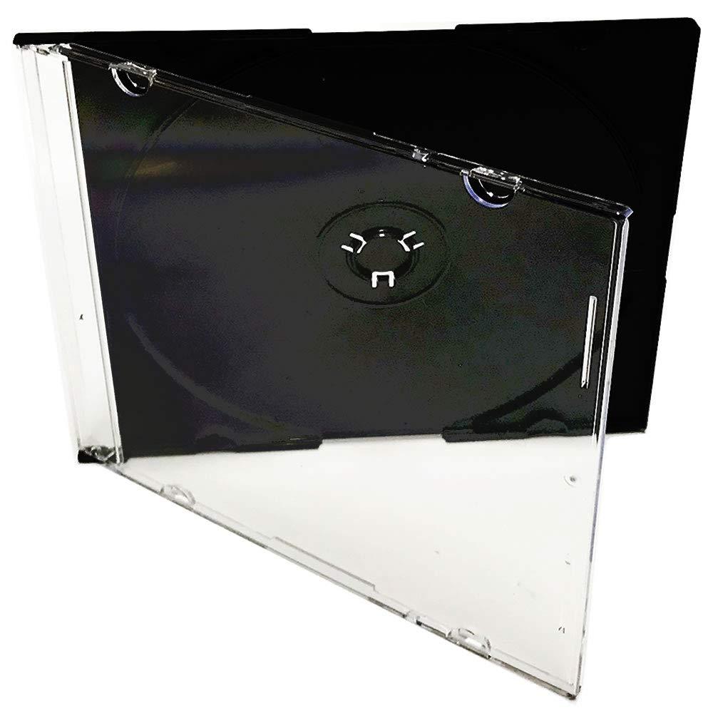 KEYIN Black Slim CD Jewel Case - Premium, 100 Pack