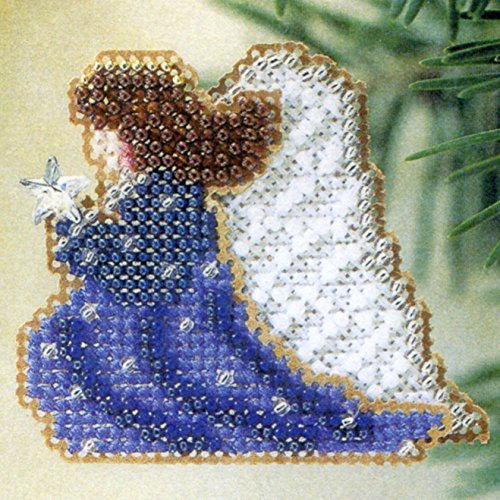 Starlight Angel Beaded Counted Cross Stitch Ornament Kit Mill Hill 2002 Winter Holiday H197