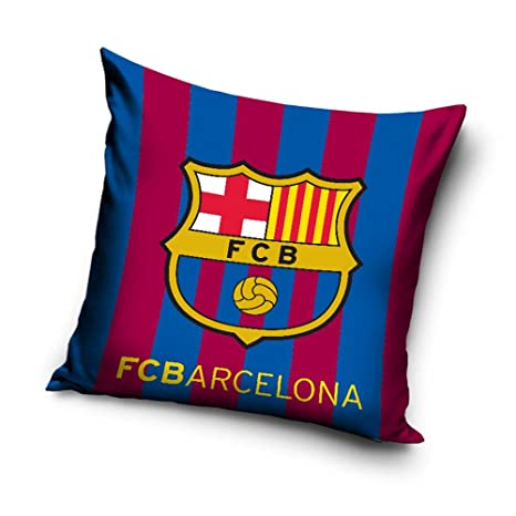 Amazon.com: FC Barcelona rayas cojín con relleno: Home & Kitchen