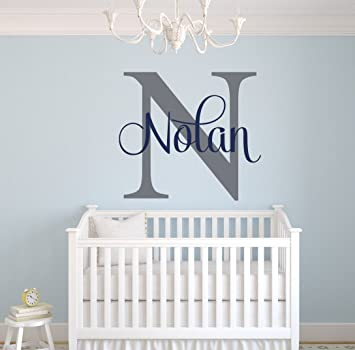 Amazon.com: Custom Name Monogram Wall Decal - Nursery Wall Decals ...