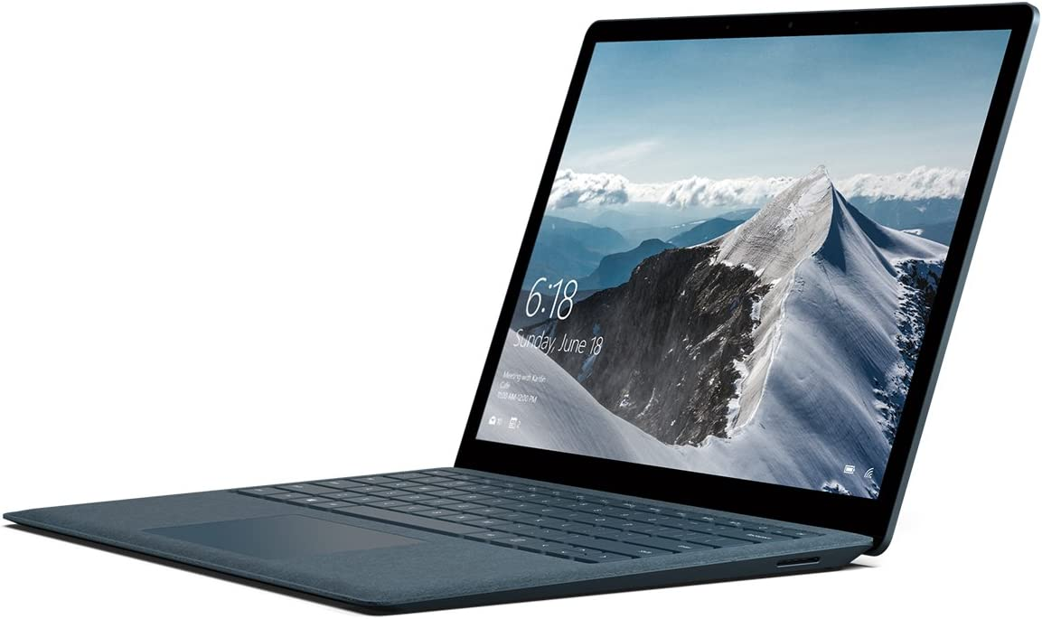 "Microsoft Surface Laptop (1st Gen) DAJ-00061 Laptop (Windows 10 S, Intel Core i7, 13.5"" LCD Screen, Storage: 256 GB, RAM: 8 GB) Cobalt Blue"