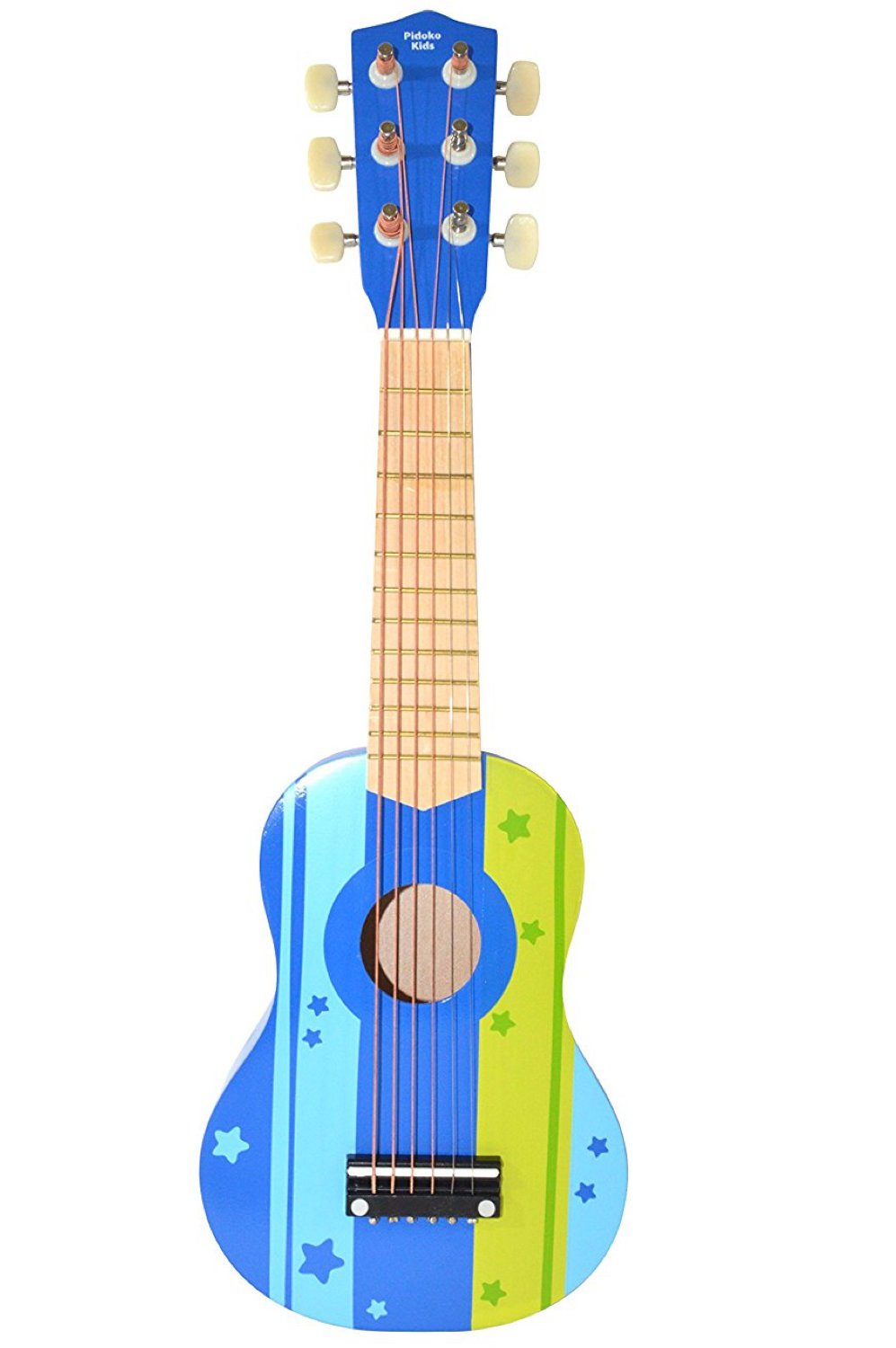 Pidoko Kids Wooden Ukulele Toy Guitar Instrument, Blue - Musical Toys for Toddlers Boys & Girls Strings