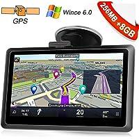 Kainuoa 5 Zoll 8GB LKW Truck Europe Traffic GPS Navi Navigationsgerät Navigationssystem mit kostenlosen lebenslangen Kartenupdates für ganz Europa für KFZ Auto Car Taxi Fahrspurassistent Sprachführun