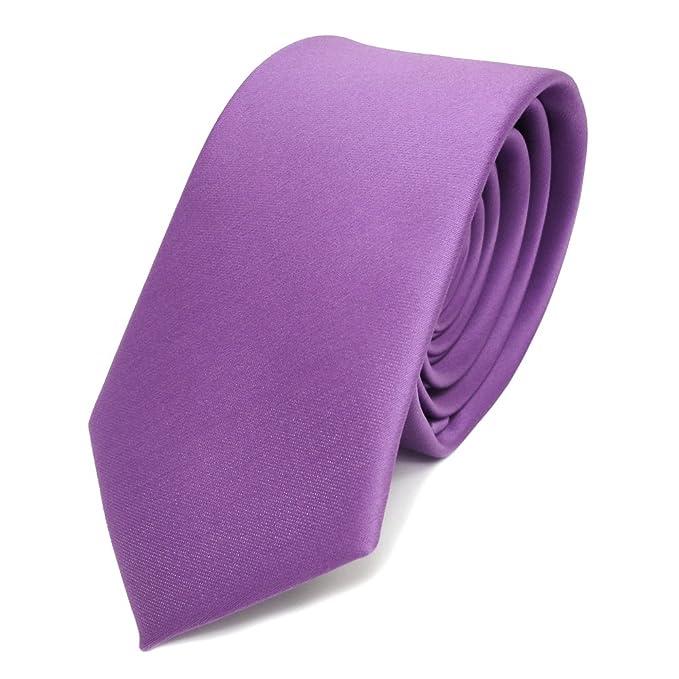 TigerTie - corbata estrecha - morado lila monocromo - 100 ...