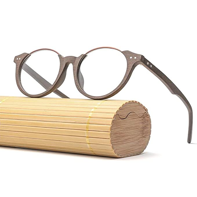 Clásico Gafas de madera Vendimia Gafas Marco de bambú Grano de ...