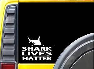 EZ-STIK Shark Lives Matter Sticker k155 6 inch Fishing Bait Decal