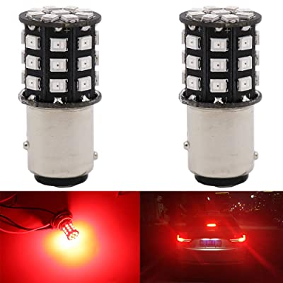 Alopee 2-Pack 1157 BAY15D 1016 1034 7528 2057 2357 Car Brake Lights - 12V-24V Extremely Bright Red 2835 33 SMD LED Light Bulb - Replacement for Tail LED Bulb: Automotive