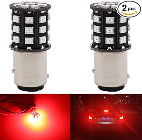 AK-3014 39 SMD Replacement Bulbs For Interior RV Camper Brake Turn Signal Lights Tail BackUp Bulbs Day Run AMAZENAR 2-Pack 1157 BAY15D 1016 1034 7528 2057 2357 Extremely Bright White LED Light 12V-DC