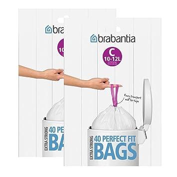 Brabantia 2 x dispensador de Bolsas de Basura del Paquete 12 ...