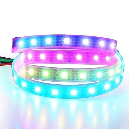 Amazon.com: ALITOVE WS2813 tira de luz LED RGB flexible de ...