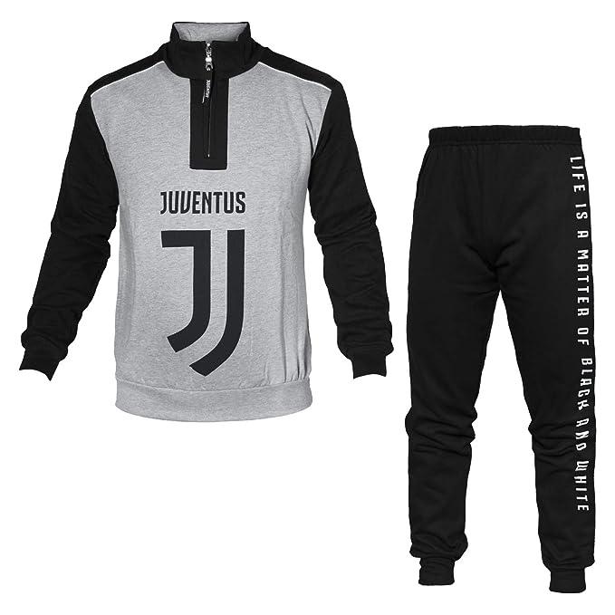 Pijama para Hombre Juventus con Cremallera Mezcla de Grises X ...