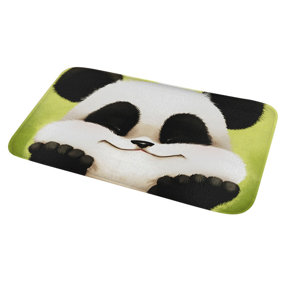 Bath Rugs Non Slip Kitchen Mats Panda Absorbent Flannel Pet Rug Doormat Floor Carpet 60×40 cm Mydours DD-6040-PANDA