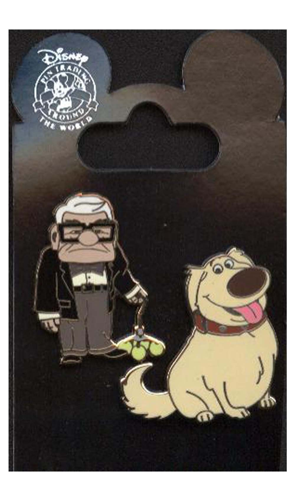 Disney Pin - Disney Pixar's Up - Dug and Carl Fredricksen - 2 Pin Set 79392
