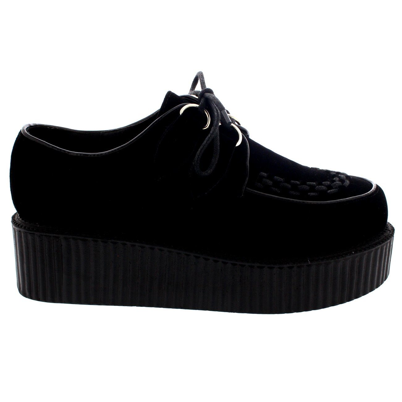 5aec1c03301f1 Amazon.com | Viva Womens Double Platform Punk Goth Flatform Brothel Creepers  Retro Shoes | Oxfords