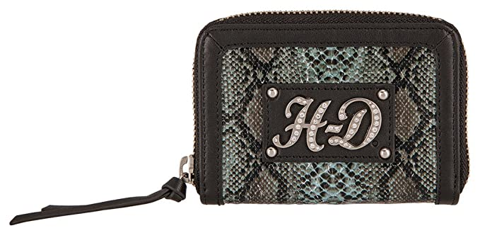 3296c0379964 Image Unavailable. Image not available for. Color  Harley-Davidson Women s  Snake Charmer Leather Zip-Around Wallet HDWWA11338-BLK