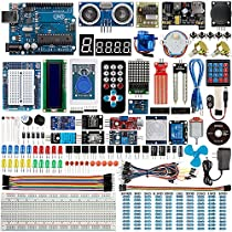 Smraza Super Starter Kit for Arduino with Tutorials Compatible with Arduino UNO R3, MEGA2560, NANO (160 Components with 27 Projects )