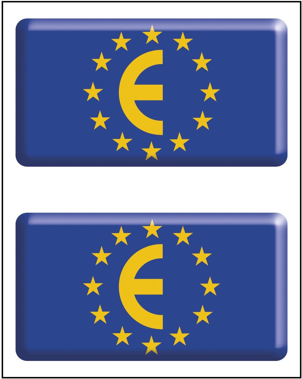 Artimagen Pegatina Bandera rectá ngulo Unió n Europea 2 uds. Resina 48x26 mm/ud. Ediciones Imagina S.L.