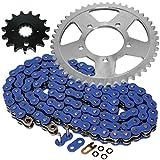 #5: Caltric Blue O-Ring Drive Chain & Sprockets Kit Fits SUZUKI GSX750F GSX-750F Katana 750 1989-1997