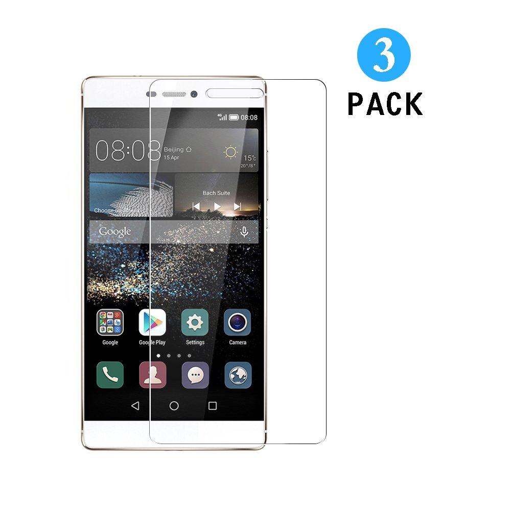 3 Unidades Huawei P8 Protector de Pantalla, WEOFUN Cristal Templado para Huawei P8 Vidrio Templado Protector [0.33mm, 9H Dureza, Alta Transparencia]: ...