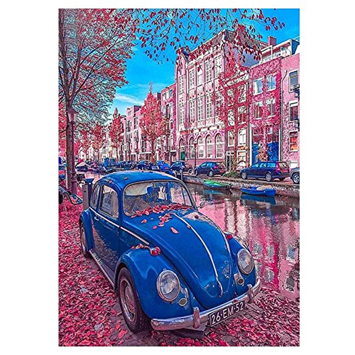 Whitelotous Car 5D Diamond Cross Stitch Kit Crystal Embroidery Painting DIY Crafts Home Wall Decor